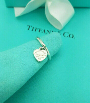 £287.99 • Buy Return To Tiffany & Co. Silver Heart Dandle Ring Size M 1/2 UK, 6.5 US Or 53 EU