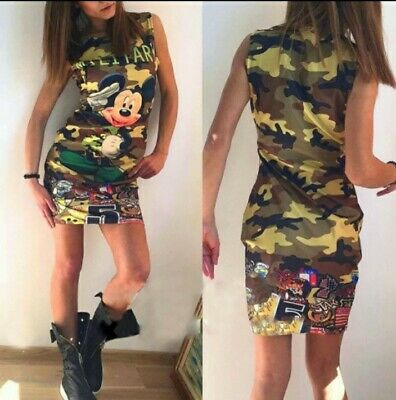 £11.75 • Buy Mickey MINNIE Mouse Short Tunic Dress Coctail  Bodycon Ladies Womens Hit 2021...