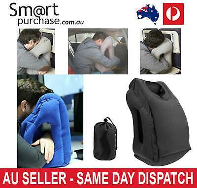 AU46.21 • Buy Travel NECK & HEAD SUPPORT Inflatable Air Cushion Nap Pillow Office Camping AU W
