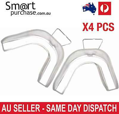 AU17.19 • Buy 4X Teeth Whitening Mouth Trays For Dental Mould Thermo Plastic Clear Guards W