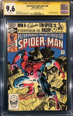 £269.03 • Buy FRANK MILLER SIGNED SPECTACULAR SPIDER-MAN #60 CGC 9.6 Ss COMIC BOOK Not CBCS