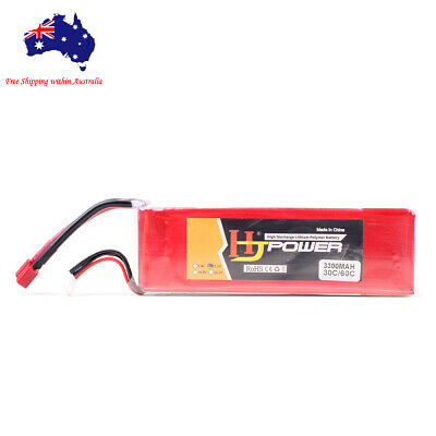 AU39.99 • Buy 3s 11.1v 3300mAh 30C Lipo Li-Po Battery W/ Deans T Plug For RC FPV Drone Car