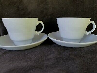 £14.90 • Buy Vintage Blue Iris Woods Ware Cup And Saucer X 2 Tea For Two 40s Utility