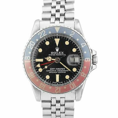 $ CDN19913.23 • Buy Vintage 1978 Rolex Patina GMT-Master FADED PEPSI Stainless MATTE DIAL Watch 1675