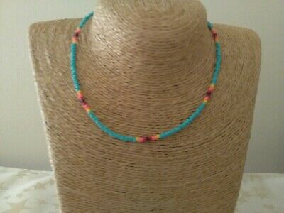 £3.45 • Buy Handmade Seed Bead Native American Necklace 18 Inch