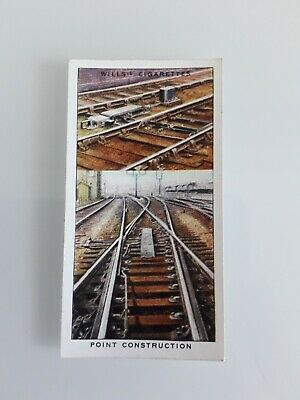 £1.10 • Buy + Wills Cigarette Card - Railway Equipment - No. 17 Point Construction +
