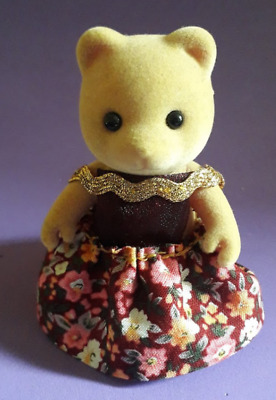 £5.99 • Buy Sylvanian Families - Handmade Adult Female Dress - Red Floral - *Costume Only*