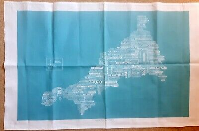 £2.99 • Buy Cornwall Map With Towns. Cotton Tea Towel Souvenir