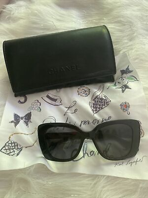 £280 • Buy CHANEL Polarised Pillow Sunglasses CH5422B Black New In Box With Case £423