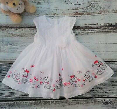 £4.50 • Buy Disney The Aristocats Marie Baby Girls White Short Sleeve Dress  Age 0-3 Months