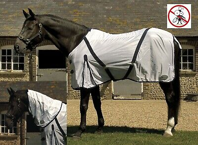 £28.95 • Buy MESH FLY RUG Rhinegold Mesh Detachable Full Neck Combo Horse Fly Rug  Tail Flap