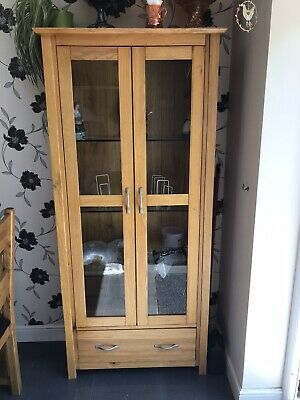 £50 • Buy Solid Wood Glass Display Cabinet