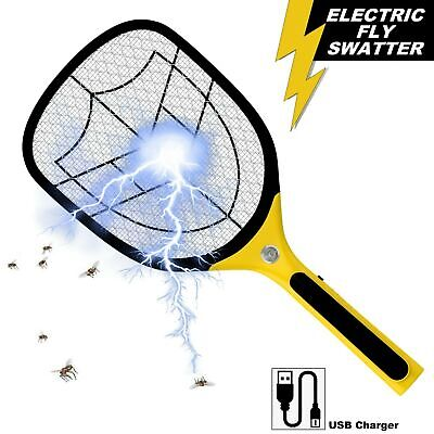 £19.95 • Buy Bug Zapper Racket Fly Killer Electric Bat Wasp Mosquito Insect Pest Swatter USB