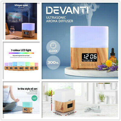 AU45 • Buy Aromatherapy Diffuser Aroma Air Humidifier Essential Oil Clock Night Light New