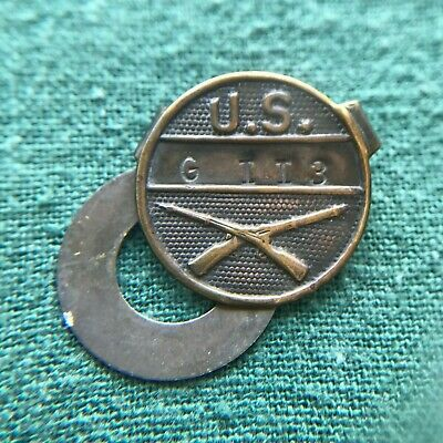 $16.89 • Buy WWI US Army Infantry M1919 Equipment Marking Tag Disk Insignia Marked G II 3