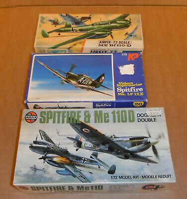 £12.75 • Buy Airfix / KP 1/72,Spitfire And Me110,parts,boxes,spares Or Repair