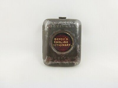 £51 • Buy Antique Miniature Bryce's English Dictionary Book & Magnifier Case C 1890s