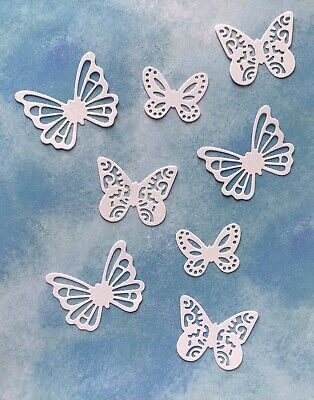 £1.80 • Buy 12 Butterfly Butterflies White Card Toppers Birthday Thank You Fun Card Making