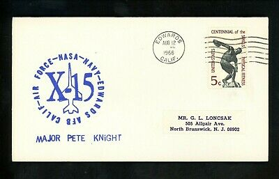 £12.77 • Buy US Space Cover X-15 Test Flight 167 Pilot Pete Knight Edwards AFB CA 8/12/1966