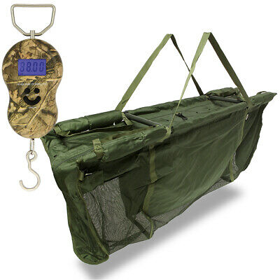 £44.95 • Buy Deluxe Captur Carp Fishing Floating Retainer Weigh Sling & Digital Camo Scale