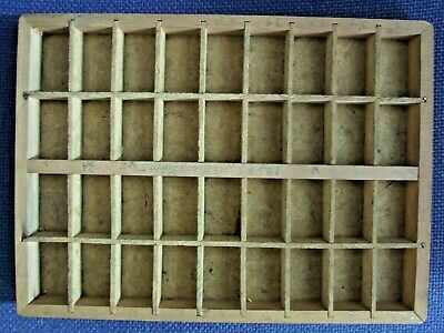 £6 • Buy Letterpress Printing Adana One Small Typecase Tray 36 Chipboard Int. Good Cond