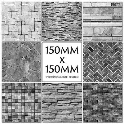 £1.86 • Buy Grey Tile Stickers Decals Transfers Modern - Stone - Slate - Brick - Marble
