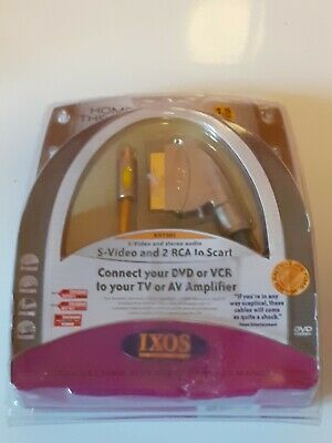£8 • Buy IXOS S-Video And 2 RCA To Scart 1.5m/4.5ft
