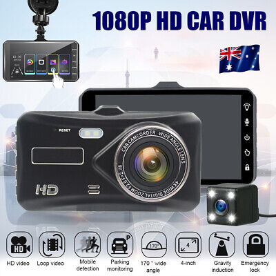 AU52.99 • Buy Car Dash Camera Touch Night Vision Video DVR Recorder Front And Rear Dual Camera