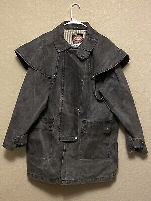 $64.95 • Buy Australian Outback Collection Dark Gray Duster Western Mid Length Coat Large