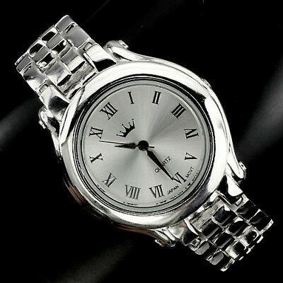 £211.69 • Buy Very Nice Classic Fully Solid 925 Sterling Silver Mens Luxury Wrist Watch