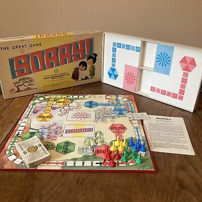 £39.99 • Buy Rare 1963 Vintage Sorry Board Game Waddington's Complete Japanese Cards Sealed!