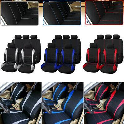 $31.05 • Buy Car Auto Seat Covers 9 Set Full Car Styling Seat Covers For Interior Accessories