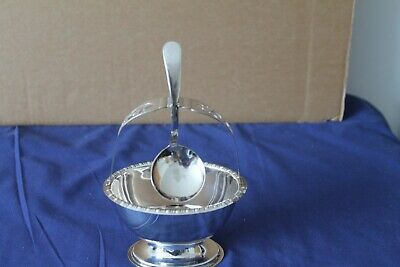 £15 • Buy Vintage Yeoman Silver Plated Preserve Dish With Silver Plated Spoon