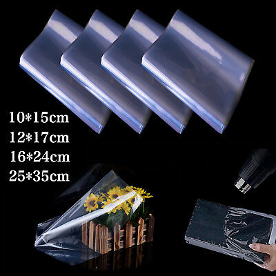 £5.49 • Buy 100X Multi-size Transparent Shrink Wrap Film Heat Seal Bag Pouch Gift Packing UK