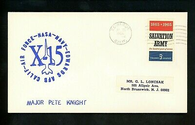 £10.64 • Buy US Space Cover X-15 Test Flight 162 Pilot Pete Knight Edwards AFB CA 7/21/1966