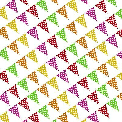£1.99 • Buy Polka Dot Multicolor Plastic One-Sided Garden Festival Party Bunting - 10m