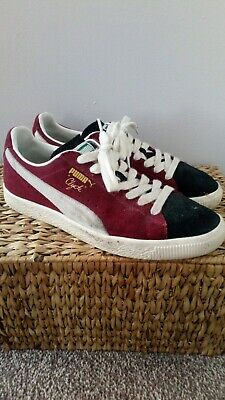 £22.50 • Buy Puma Clyde Mens Trainers Shoes Size 7 Uk Burgundy Vintage