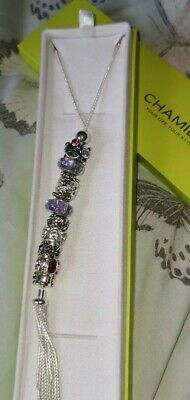 £225 • Buy Genuine Chamilia 925 Silver Chain Necklace With Charms New Never Worn Rrp £650