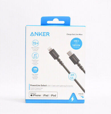 AU18.03 • Buy Anker USB C To Lightning Cable 6ft Powerline Select High Speed Charging