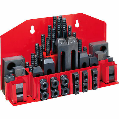$53.95 • Buy 5/16-18 Stud Size 3/8  T-slot Size 58 Piece Clamping Kit Mill Machinist Set -new