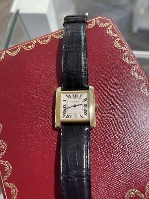 $4995 • Buy Men's Cartier Tank Francaise 18K Yellow Gold  Automatic Watch 1840