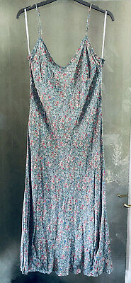 £10 • Buy New Look Floral Summer Dress Boho Indie Size 18  Rock Chic