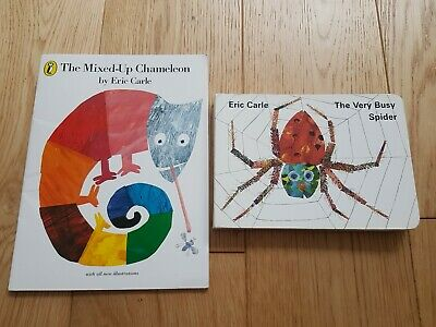 £7.99 • Buy Eric Carle Mixed Up Chameleon & Busy Spider Bundle Books