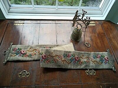 £25 • Buy Brass Bell And Tapestry Bell Pull With Solid Brass Hanger