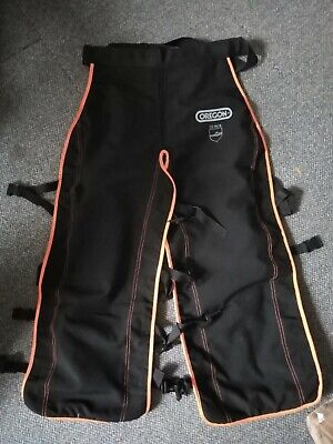 £50 • Buy Oregon Chainsaw Trousers 20m/s - Size L - Black With Orange - Barely Used