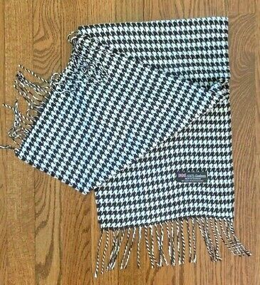 £4.95 • Buy Women's Black And White Houndstooth Cashmere Scarf