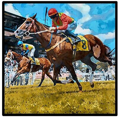 £7.99 • Buy Horse Racing - Fun Souvenir Novelty Coasters - Easy Clean - Brand New / Gifts