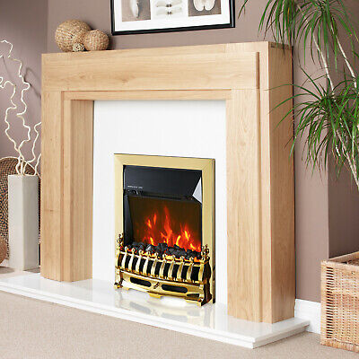£79.99 • Buy Truflame Led Gold Electric Fire Inset Freestanding With Coals Traditional