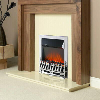 £79.99 • Buy Truflame Led Silver Electric Fire Inset Freestanding With Coals Traditional