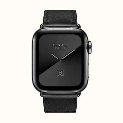 £300 • Buy Apple Watch Hermès - 40mm Noir Swift Leather Single Tour Strap Only NEW BOXED
